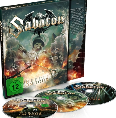 SABATON- Heroes on tour 2DVD+CD